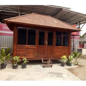 rumah kayu kabin