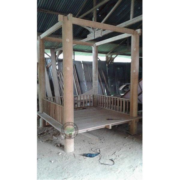 gazebo kayu eksotis