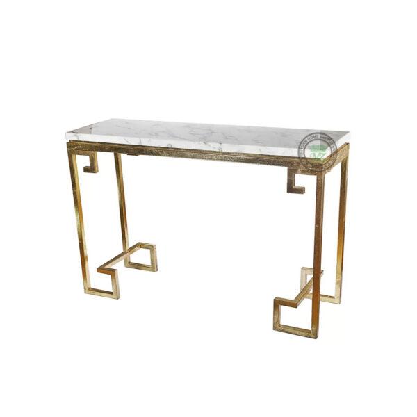 meja konsul industrial dan marmer