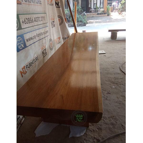 meja makan kayu jati solid