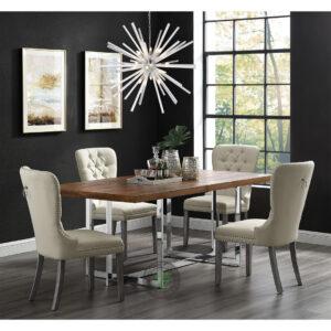 set meja makan stainless