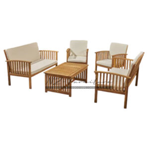 Set Tempat Duduk sofa Jati dan Bantal