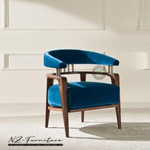Sofa Single Berlengan Dengan Sandaran Melengkung