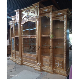 golden display cabinet