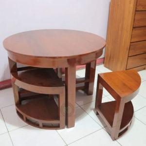 set meja makan bulat
