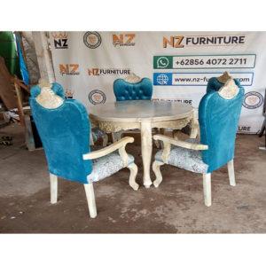 set meja makan prancis 5 kursi