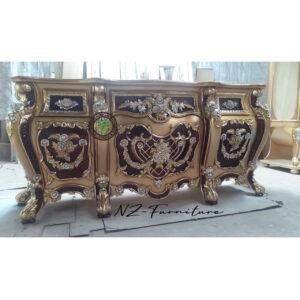 Meja Dinding Lebar Gaya Baroque