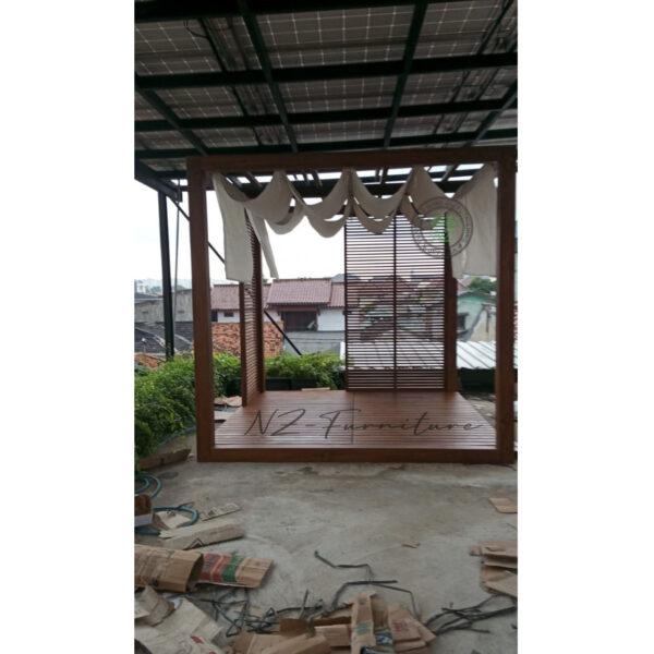 Gazebo Jati Rooftop Persegi